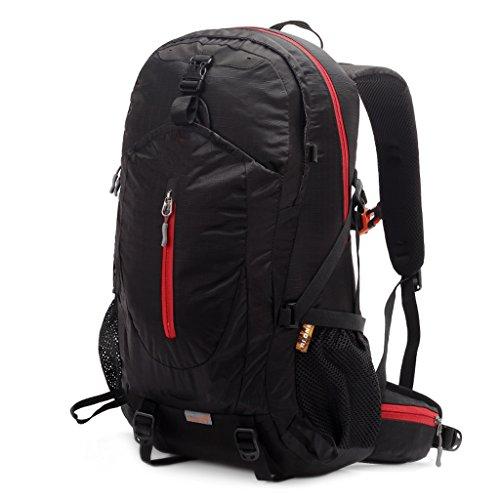 AMOS Outdoor Bergsteigen Tasche Sport Schultern Rucksack Männer und Frauen zu Fuß Reisen Reisen Reiten Outdoor Rucksack 38L Schwarz