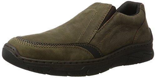 Rieker Herren 16963 Slipper, Braun (Kakao/Schwarz), 41 EU (Schwarze Herren Dress Shoes Loafers)