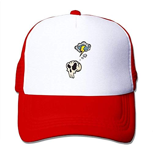 Baseballmützen/Hat Trucker Cap Skull Cartoon Cloud Pattern Mesh Unisex Snapback Baseball Trucker Hats Adjustable Unique Personality Cap - Cloud-schüssel