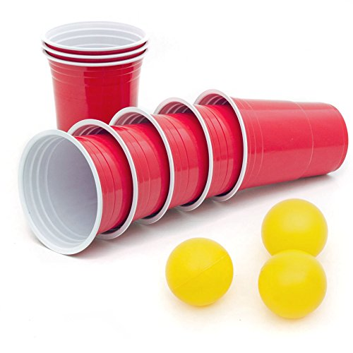 50 Stück Rote Partybecher Trinkbecher 16 oz Rote Beer Pong Party Cups Einwegbecher - 3-cup-becher