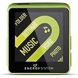 Energy Sistem Sport 2508 - Reproductor MP4 con auriculares deportivos (8 GB, brazalete y radio FM) lime green