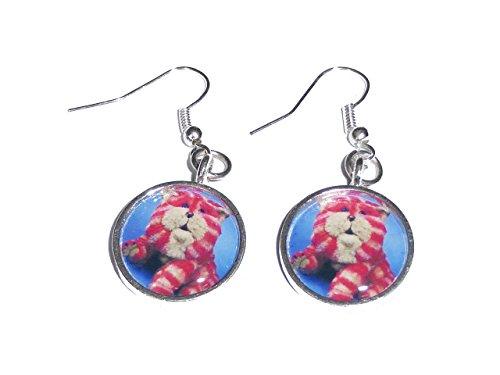 Bagpuss Earrings - Handmade.