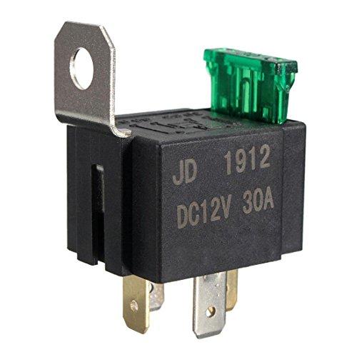 SODIAL(R) 12V 30A 4 Pin SPST Auto KFZ Relais Schliesser oeffner Wechsel Schalter Umschalter - Schalter Spst-relais