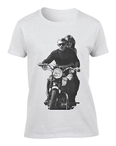 Steve McQueen On A Bike Femme T-Shirt