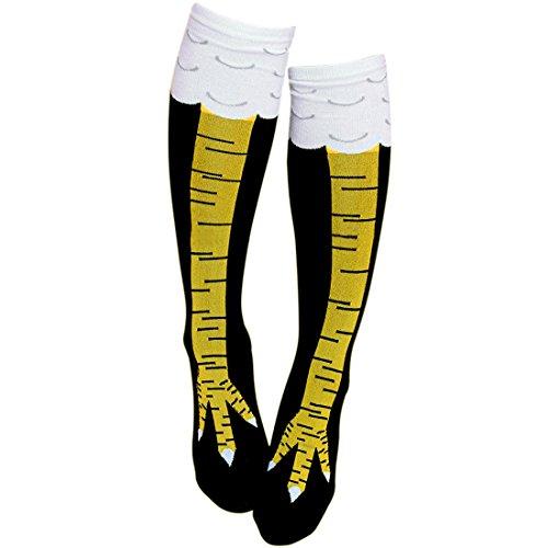 1 Paar Lustige Socken Kniestrümpfe aus wohlig Baumwolle Fasern von Gmark für Damen,EU 36-39 (Nahtlose Damen-socken)