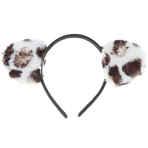 Kuscheltier Katzenohren Stirnband Mädchen Haarschmuck Elastische Haarbänder Pferdeschwanz Elastics Bobbles Für Halloween Weihnachtsfeier