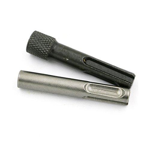 ZHDYTWYT 1/4 Converter Socket Nut Impact Driver Set 2pcs Hex Shank Screwdriver Holder Drill Bit Adaptor for SDS Hammer Drilling Tool -