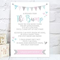 "Personalised Baby Shower""A Message From The Bump"" Poem Table Sign (BS1)"