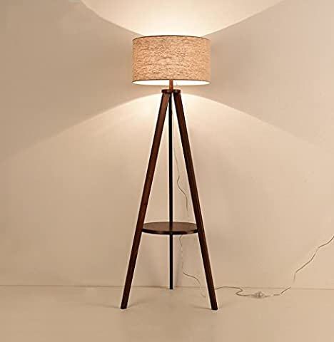 Ajustable Lampe sur pied en bois massif, table de café en bois de style japonais Chaise d'étude de chambre nordique Échangeur de pied vertical E27 * 1 Élégant ( Couleur : #2 )