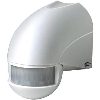 Brennenstuhl Bewegungsmelder Infrarot / Bewegungssensor für Außen und Innen - IP44 (180° Erfassungswinkel und 12m Reichweite) Farbe: weiß