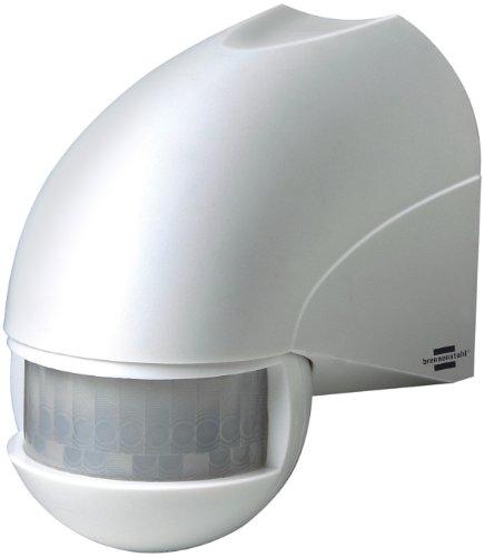 Brennenstuhl 1170900 Segnalatore/ Sensore di movimento ad infrarossi PIR 180 IP 44, angolo di rilevamento 180 gradi