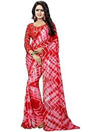 Kbf Sarees For Women Embroidered Half And Half CHIFFON With Blouse Piece Material For Party Wear, Wedding Collection...