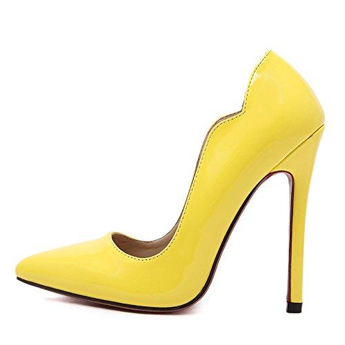 GS~LY Scarpe scarpe asakuchi punta tacchi a spillo Black