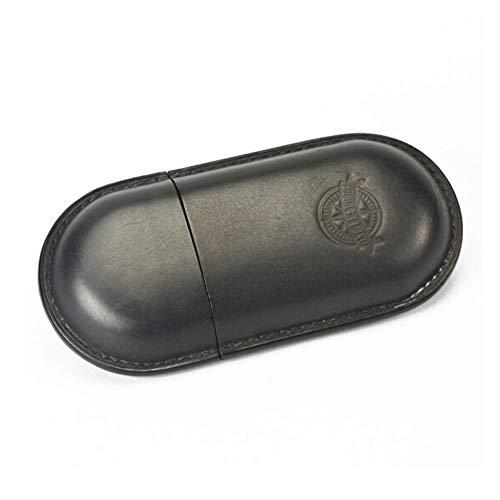 Naiqifuzhuangyouxiangon Lederhandgemachte Zigarren Box Smoking Set, bewegliche Zigarre Werkzeug, kubanische Zigarren-Box Zigarettenschachtel Zigarre Schutzhülle (Color : Black, Size : 17 * 8 * 4cm)