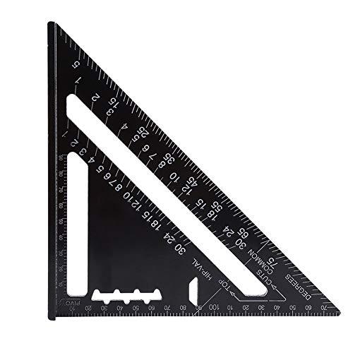 Dreieck-Winkelmesser, 17,8 cm, Viereck, Schreiner, quadratisch, Aluminium, mit schwarzem Oxid-Finish...