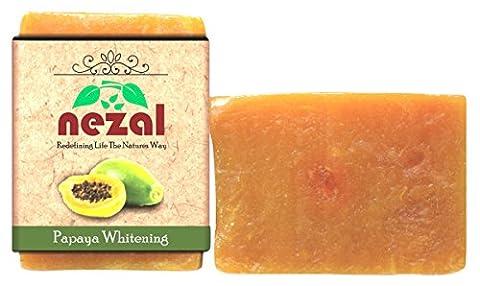 Nezal's Haut de gamme à base de plantes Handcrafted papaye Whitening Savon de bain bio - 3,5 onces