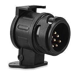 Navaris Trailer Adapter 13 zu 7 Pin - 12 V Adapter für Auto Anhängerkupplung Steckdose 13-polig auf Anhänger Stecker 7-polig - Adapter 13 auf 7 Pol
