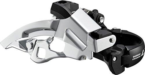 SHIMANO Umwerfer 'Deore LX' FD-T670 Mod.13 SB-verpackt, für 44/48Z., Top Swing, Dual Pull, für 10-fach Ø 34,9mm, mit Reduzieradapter 31,8/28,6mm, 63-66°, schwarz