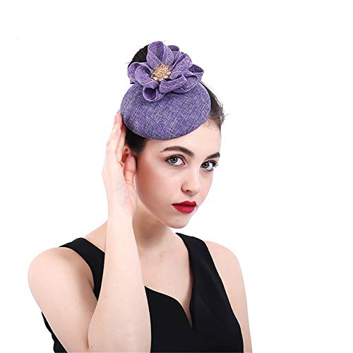 LYQ Princess Womens Vintage Sinamay Fascinator Cocktail Hüte -