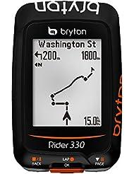 Bryton Rider–330C, ordinateur GPS avec capteur de cadence mixte adulte, Noir, M