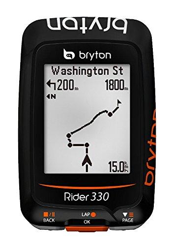 Bryton Rider 330C, Computer GPS mit Geschwindigkeitsmesser Unisex–Erwachsene, schwarz, M