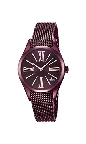 Festina BOYFRIEND Women's Quartz Watch with Purple Dial Analogue Display and Purple Stainless Steel Plated Bracelet F16964/1