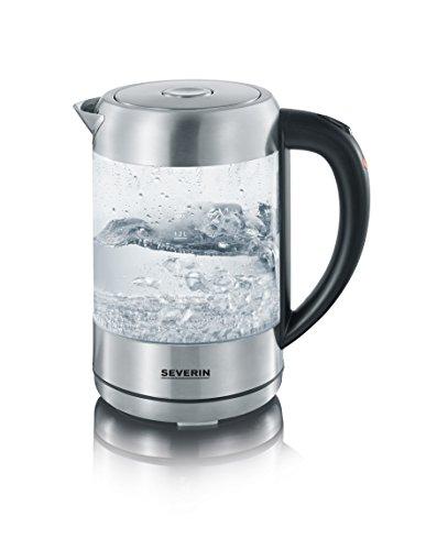 WK 3470 Glas-Wasserkocher, Glas-Edelstahl-gebürstet