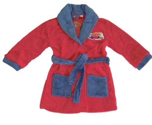 Disney Cars Kinder Bademantel oder Morgenmantel Rot/Blau, Körpergröße in cm:92-98 = 2 ()