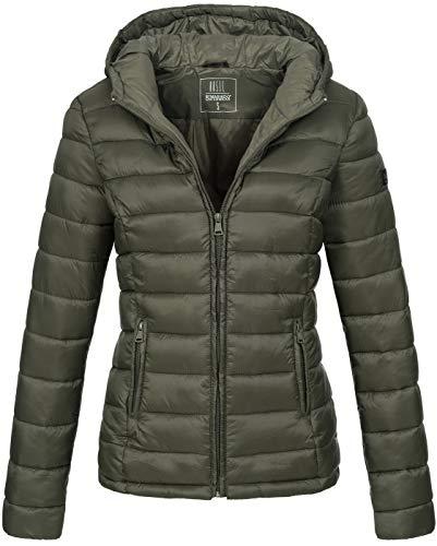 Marikoo Damen Jacke Steppjacke Übergangsjacke gesteppt B651 [B651-Luc-Grün-Gr.XXL]