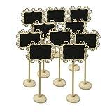 FRISTONE Mini pizarra tablero de mensajes señal con Soporte para Los fiesta boda Número de mesa/tarjeta de lugar el establecimiento de decoración,juego de 10