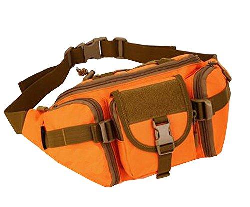 Deportes al aire libre Multifuncional impermeable Bolsa Fanny Pack [naranja]