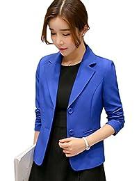 YiLianDa Mujer Blazer Chaqueta Manga Larga Traje Slim Fit Elegante Oficina 477fd337593a