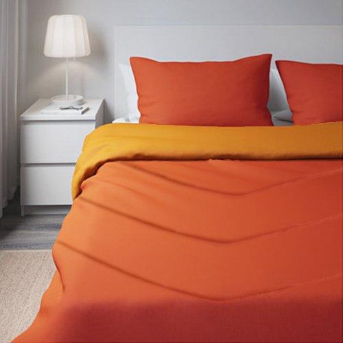 Corredocasa - trapuntino primaverile matrimoniale 2 piazze royal tinta unita double face 240 x 260 cm made in italy - colore arancione/rosso aragosta