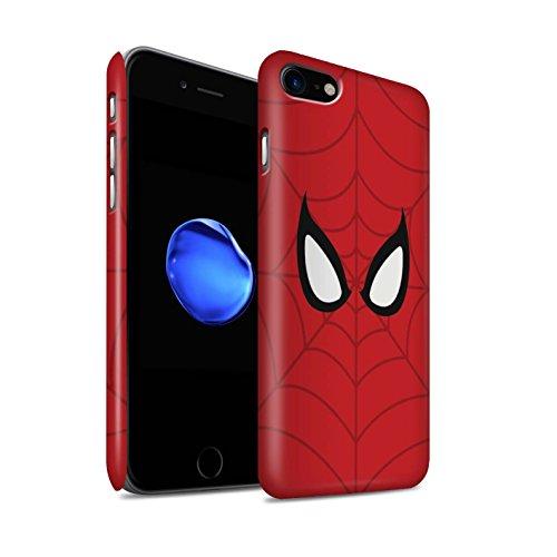 STUFF4 Matte Snap-On Hülle / Case für Apple iPhone 7 / Spider-Man Maske Inspiriert Muster / Superheld Comic-Kunst Kollektion