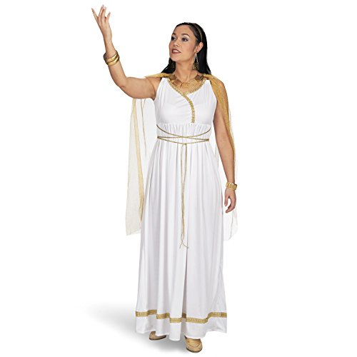 Römische Göttin Kostüm Damen Kostümkleid antik gold weiß - 44/46