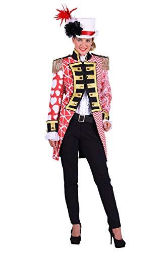 Kostüm Admiral Jacke - Thetru Damen Kostüm Admiral Garde Uniform Jacke rot-weiß Karneval Gr.S