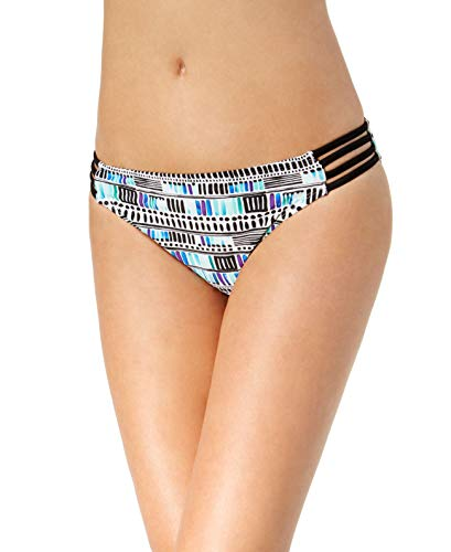 e713fe55bd1 California Waves Strappy Hipster Bottoms Women's Swimsuit (Sea Glass Deco  Printed, ...