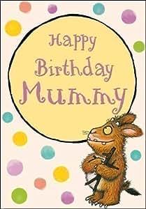 Woodmansterne - Carte Anniversaire Maman The Gruffalo Happy Birthday Mummy