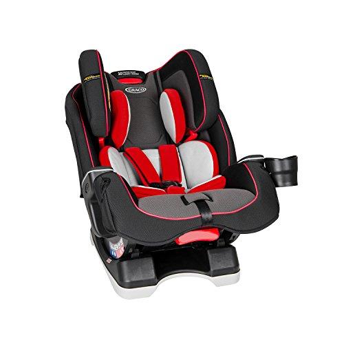 Graco Milestone LX All-in-One-Autositz mit Safety Surround-Seitenaufprallschutz, Gruppe 0+/1/2/3, feuerrot