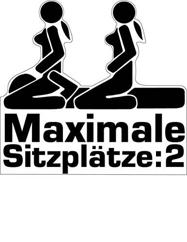 (Aufkleber Sticker Maximale Sitzplätze JDM Tuning Autoaufkleber Fun Lustig Stickerbomb Sex Girls)