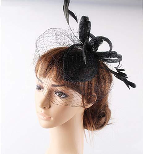 SweetStyle Zylinderhut Handgemachter Brauttiara-Haarzusätze blühen Blumenstadiumshut Blühen Tee
