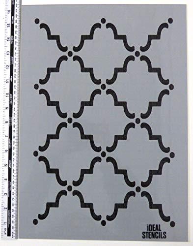 Marokkanischer Stil Muster Schablone A4 Größe Wohndeko Kunst Handwerk Malerei Schablone für Wände, Stoffe, Möbel Etc.