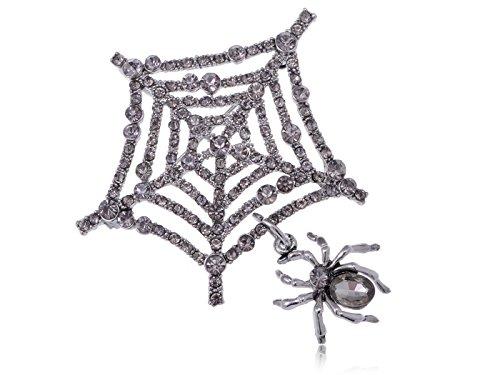 Alilang Charlotte's Spinnennetz Itsy Bitsy Spidey Kristall Strass Fashion Brosche Pin (Schmuck Bitsy Itsy)