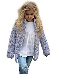 9ad5a6dc88133 Veste Violet cardigan en maille de couleur unie pour 3-7 ans---HUI.HUI  Fille VêTements