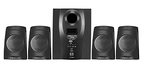 Oshaan Atom 4.1 Channel Multimedia Home Theatre Speaker,Bluetooth connectivity,FM/AUX/USB Support
