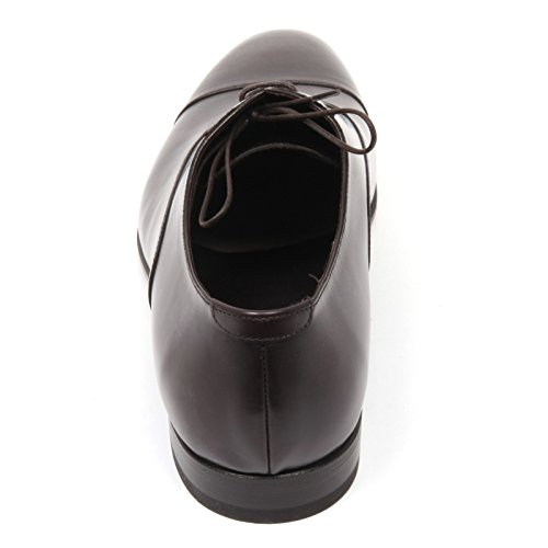 C3866 scarpa classica uomo ALTIERI MILANO marrone scuro shoe man Marrone scuro