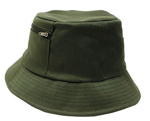 Schlapphut (Fischermütze), kleine Seitentasche, oliv, Größe 59