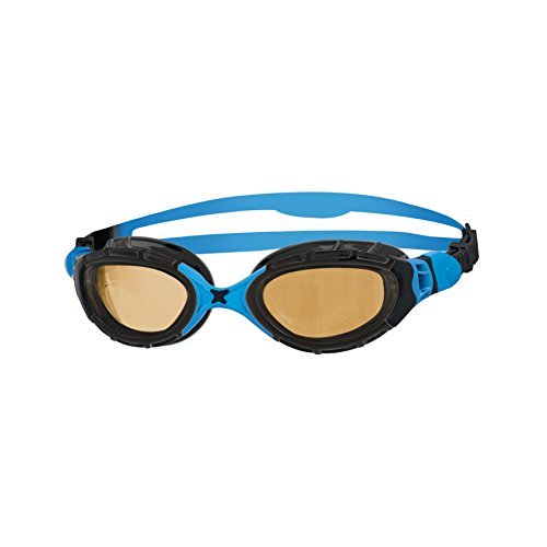 Zoggs Predator Flex Polarized Ultra Schwimmbrille, Black/Blue/Copper, One Size