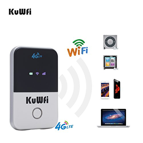 Mobiler Wifi WLAN-Router, KuWFi Travel Partner 150Mbps Wireless Pocket 4G WIFI Router 100Mbps USB 4G Modem mit SIM Karte MINI Mobile Hotspot Portable Auto LTE Router