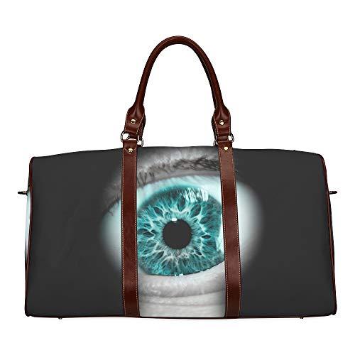 Travel Duffel Bag Brigital Schöne mehrfarbige Eye wasserdichte Weekender Bag Overnight Carryon Handtasche Frauen-Damen-Einkaufstasche mit Mikrofaser-Leder-Gepäcktasche